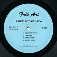 Dances of Yugoslavia  / Greece